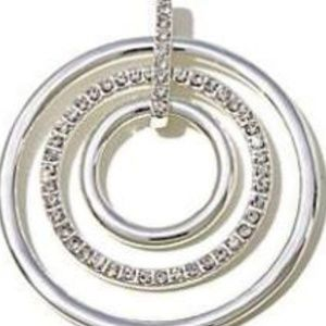 Roberto by RFM SILVER CRYSTAL CIRCLE EARINGS